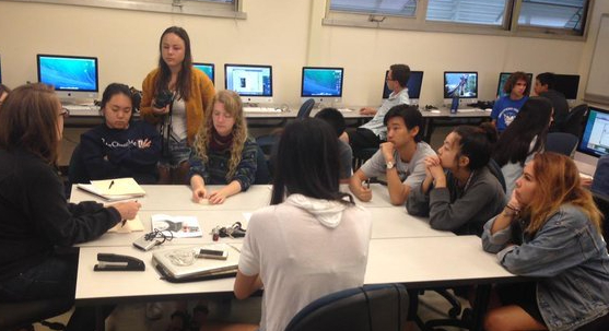 CSPA students in the classroom
