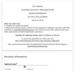 CSPA Application Screenshot