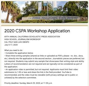 2020 CSPA Application