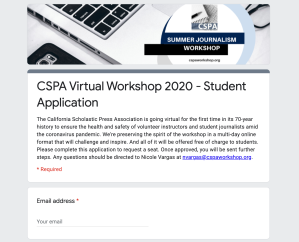 New CSPA Workshop Application
