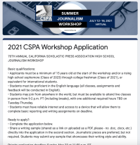 CSPA Workshop Application